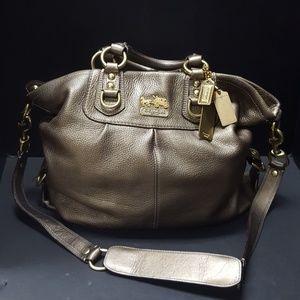 COACH Bronze Sabrina Convertible  Satchel Bag
